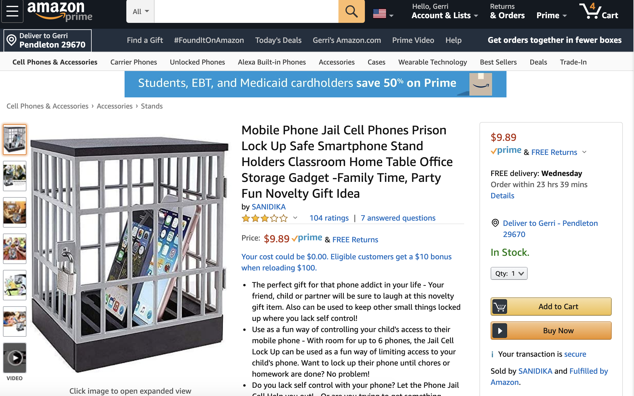 cell phone jail cell