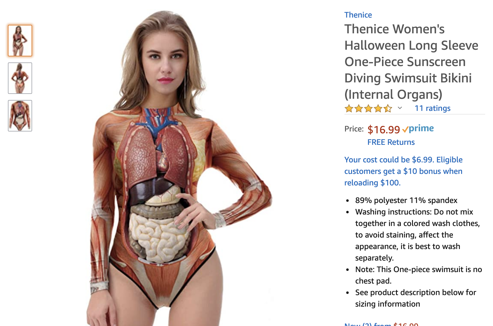 human anatomy swimsuit